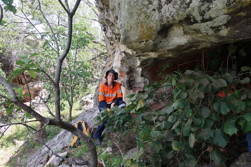 Natasha Strickland in a cave